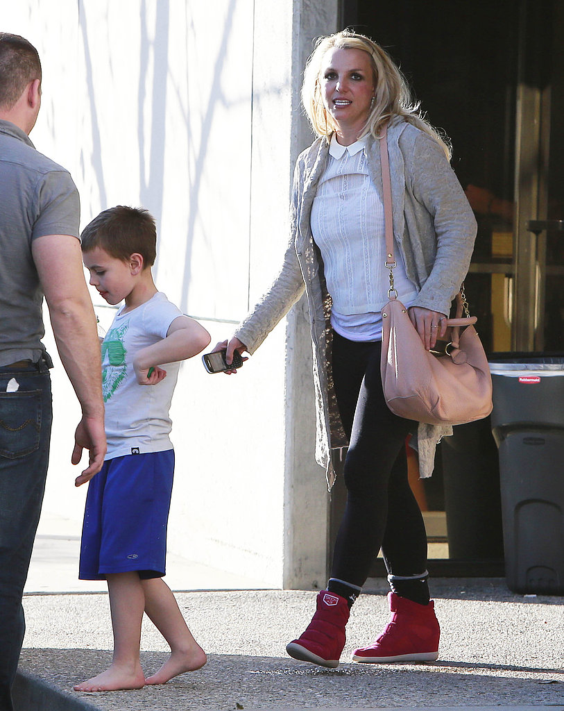 Britney Spears took her kids to an indoor playg