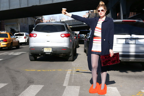 Spotted: Céline's Spring '13 slippers on the streets of NY.