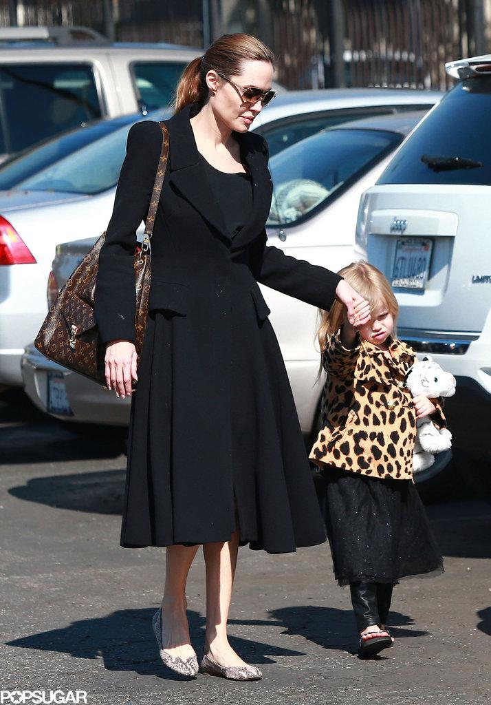 Angelina Jolie walked with Vivienne in LA.