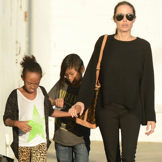 Angelina Jolie Takes Zahara and Pax Shopping | Pictures