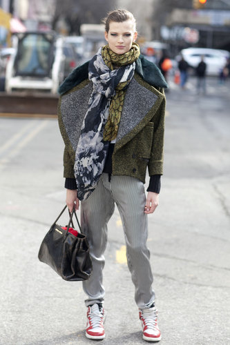 A borrowed-from-the-boys play on street chic.