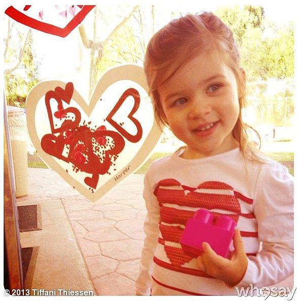 Harper Smith was full of hearts on Valentine's Day! Source: Instagram user tathiessen