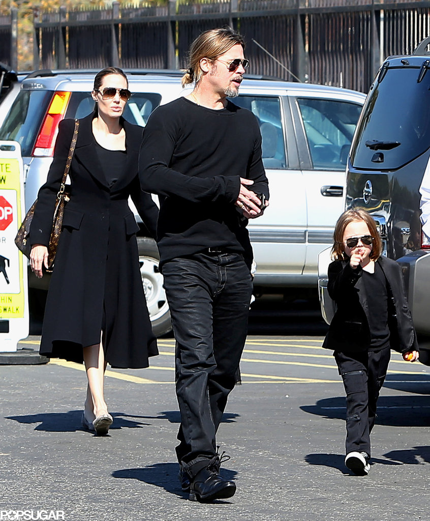 Brad Pitt and Angelina Jolie took Knox and Vivienne to the Natural History Museum on Valentine's Day in LA.