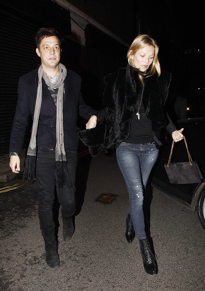 Kate Moss and husband Jamie Hince went to dinner and a movie Thursday night in London.