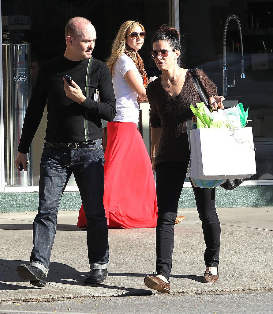 Sandra Bullock and a friend went to a toy store in LA.