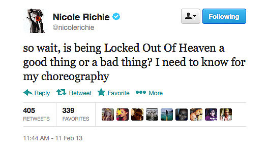 Nicole Richie, asking the big questions.