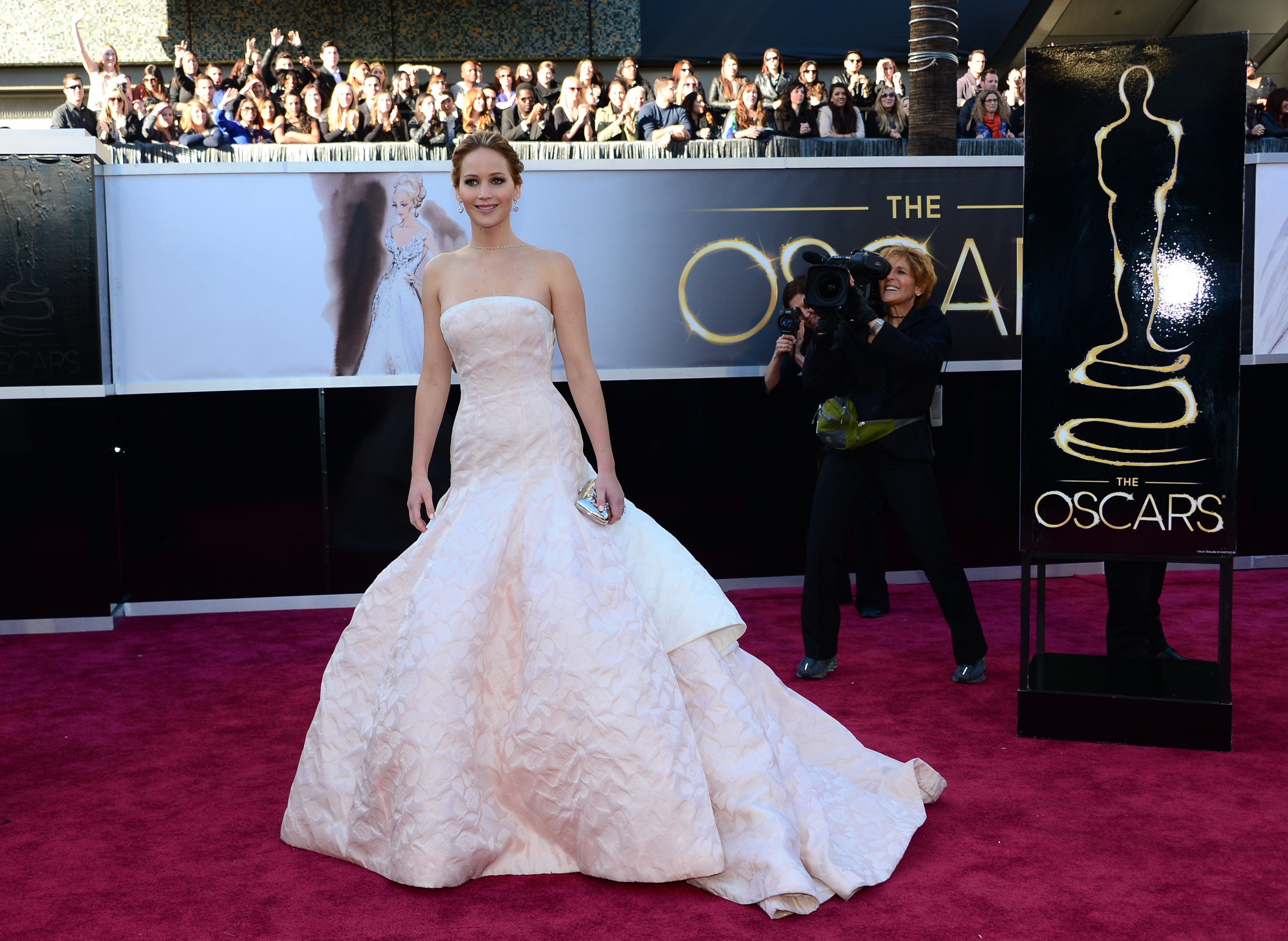 Jennifer Lawrence was a movie star head to toe in Dior Haute Couture.