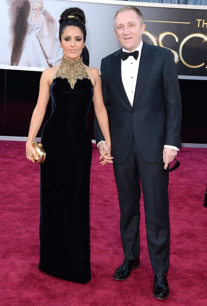 Salma Hayek and Francois-Henri Pinault were hand in hand on the red carpet.
