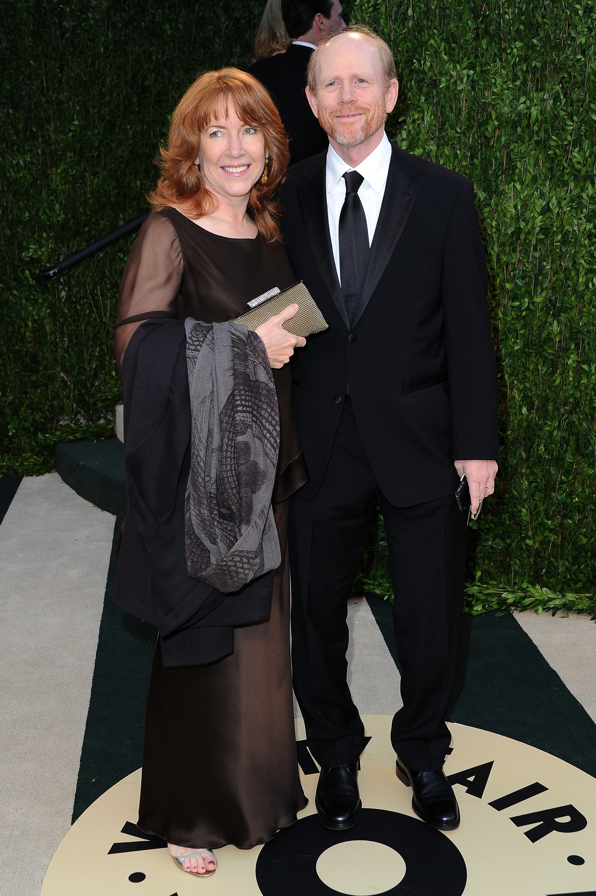 Ron and Cheryl Howard arrived at the Vanity Fair Oscar party on Sunday night.