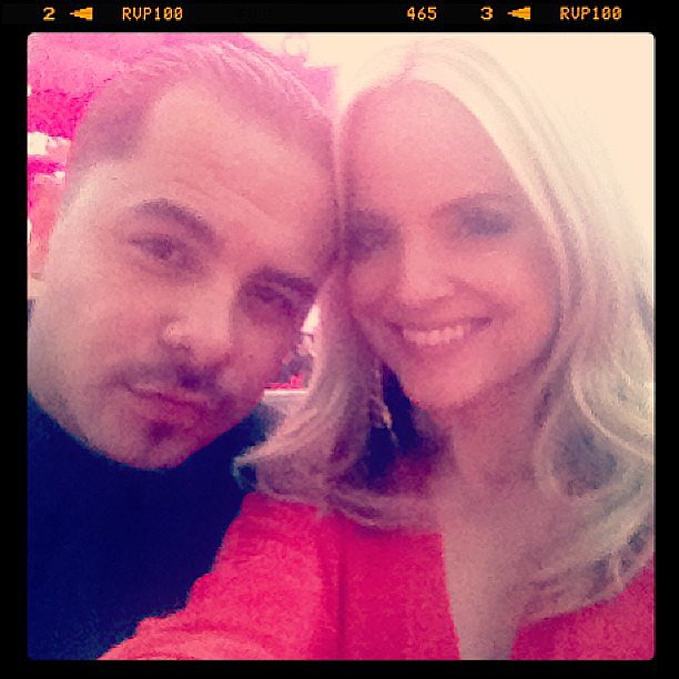 Mena Suvari was all smiles at Elton John's event. Source: Instagram user mena13suvari