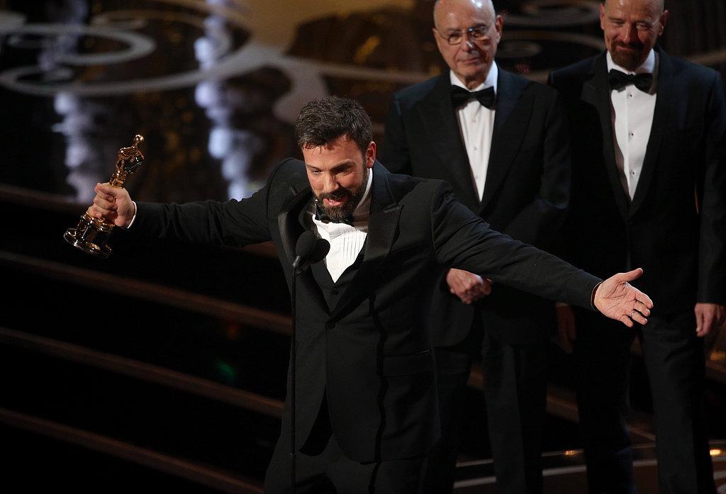 Ben Affleck gave his Oscars acceptance speech.