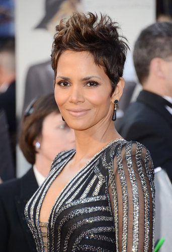 Halle Berry on the red carpet at the Oscars 2013.