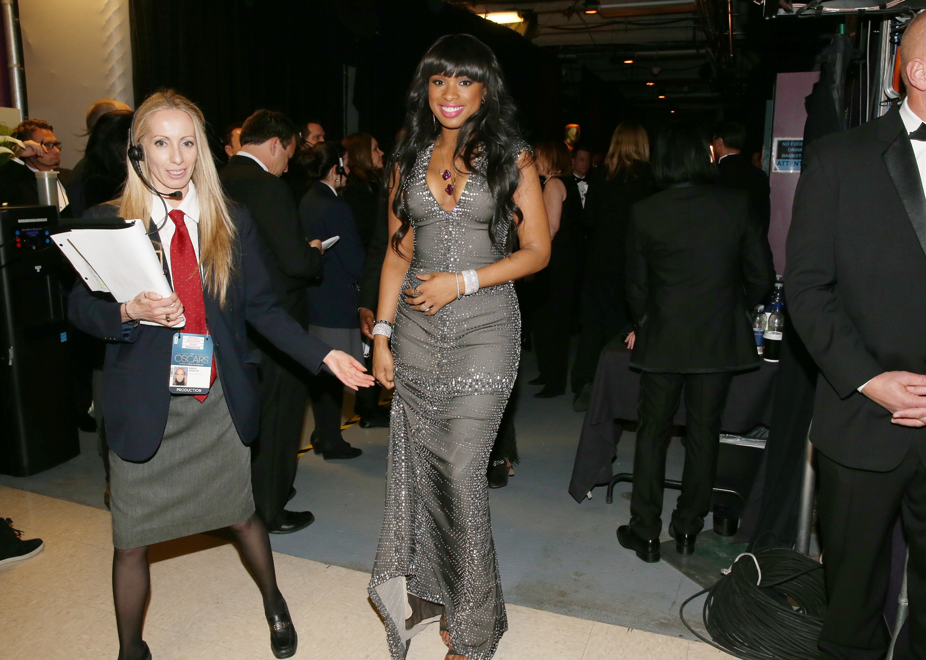 Jennifer Hudson hung out backstage.