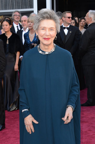 Emmanuelle Riva on the red carpet at the Oscars 2013.