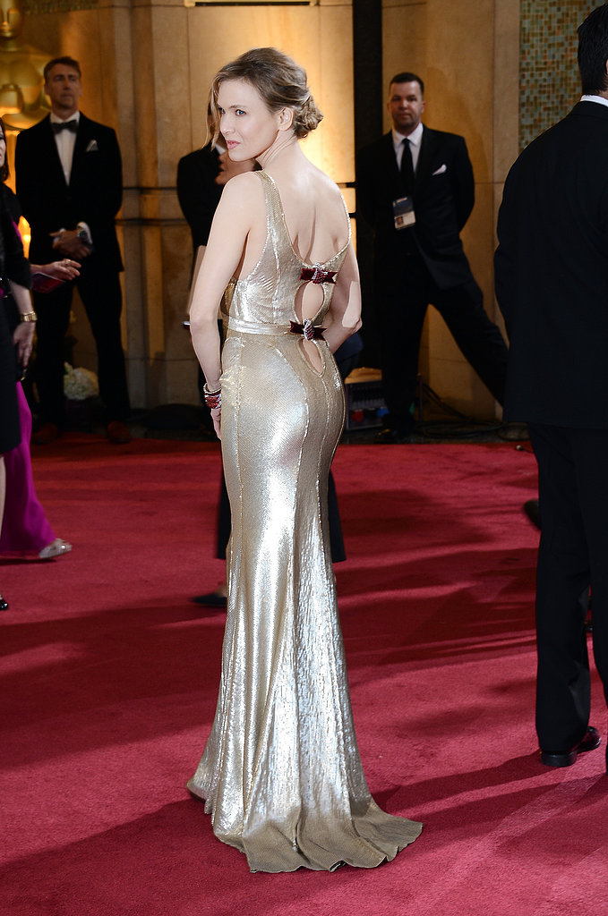 Renee Zellweger on the red carpet at the Oscars 2013.