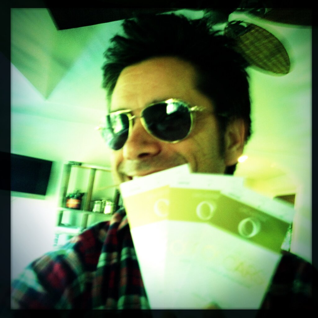 John Stamos showed off his golden tickets. Source: Twitter user JohnStamos