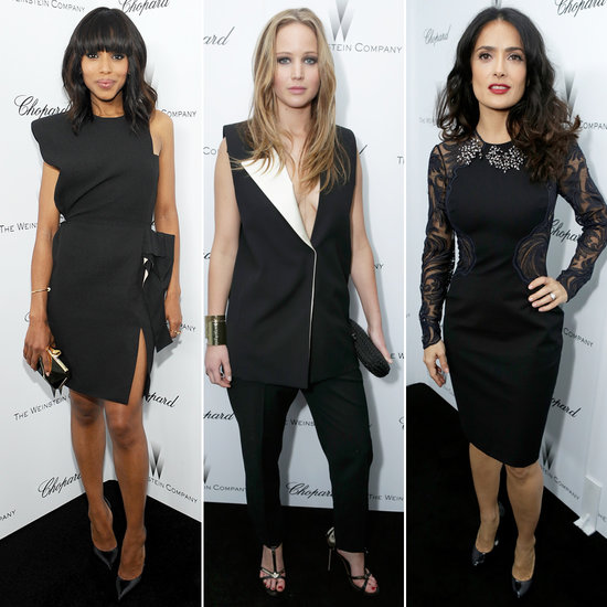 Ladies Paint the Town Black For Weinstein's Pre-Oscars Party