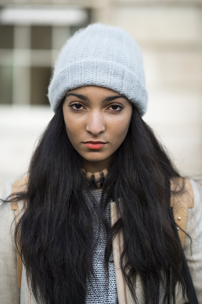 High-on-texture hair and orange lipstick looked oh-so sweet on Desiree Laidler. Source: Le 21ème   Adam Katz Sinding