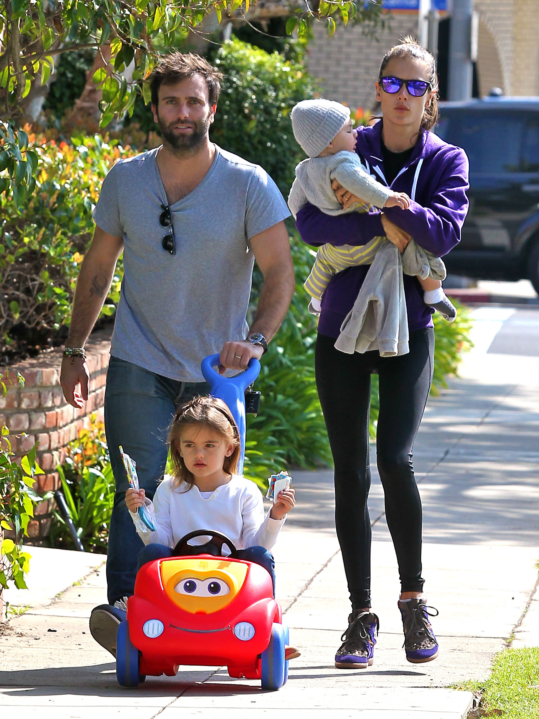 Alessandra Ambrosio Spends the Day Strolling With Her Family in LA