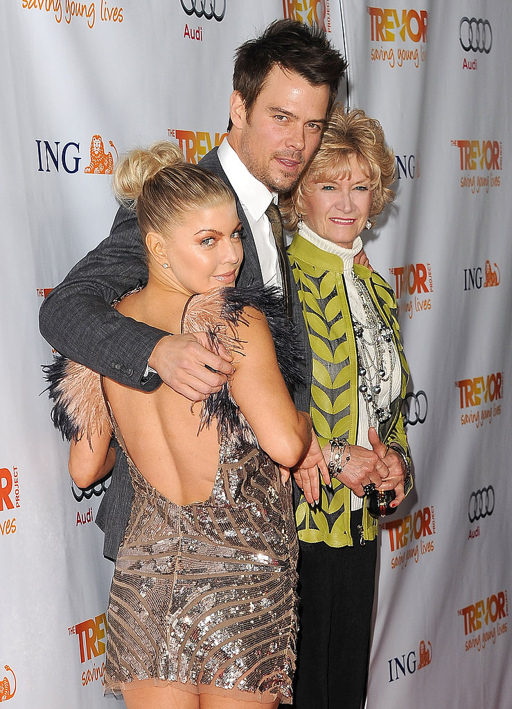 Fergie and Josh Duhamel posed with Josh's mum, Bonny, at a charity event in LA in December 2011.