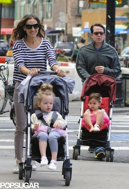 The twins were tu-tu much as they took an early-morning stroll with Mom and Dad back in June 2012. Each girl wore a tutu in a different shade of pink and matching white sandals (though Loretta appeared to be missing one!).