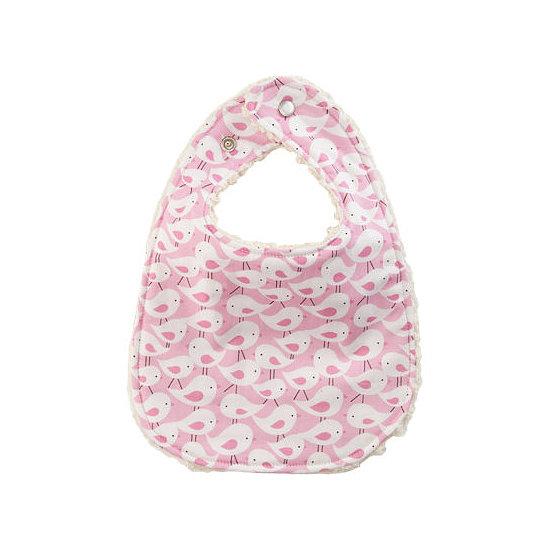 The Ellie Rose Pink Birds Bib