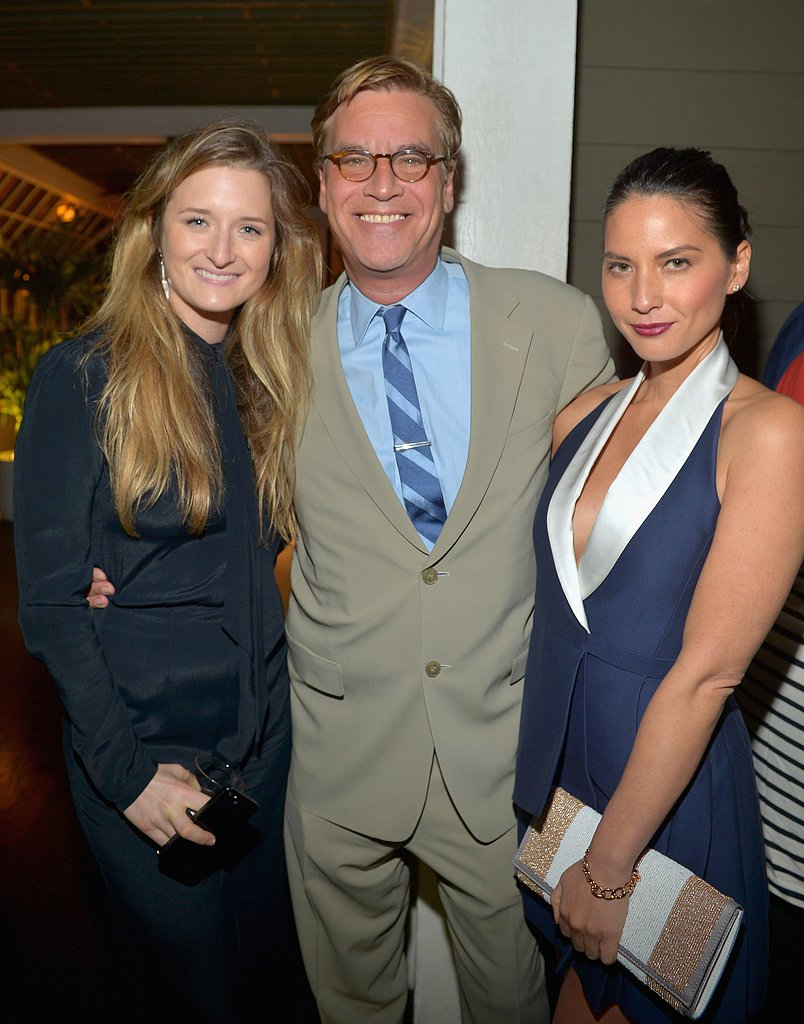 Olivia Munn hung out with Aaron Sorkin and Grace Gummer.