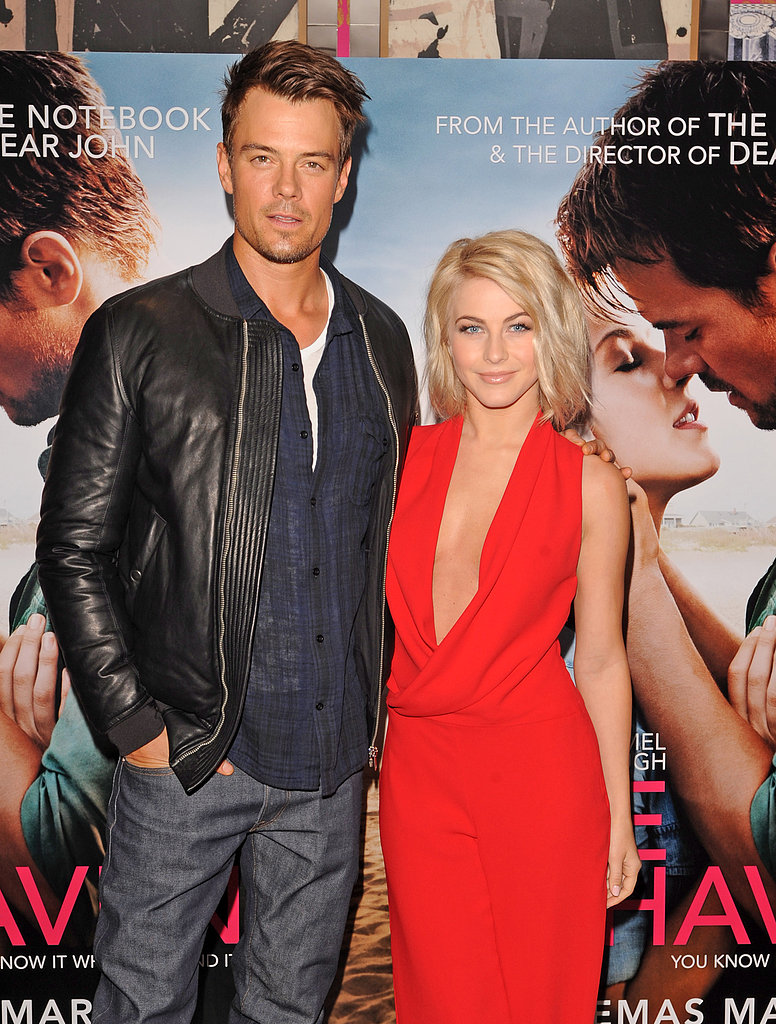 Josh Duhamel and Julianne Hough posed together while promoting Safe Haven in London.