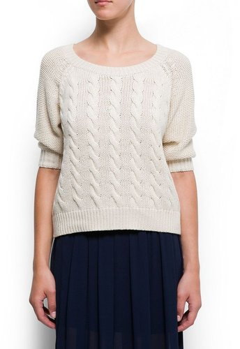 Cotton cable knit jumper