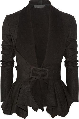 Donna Karan Draped coated-jersey jacket