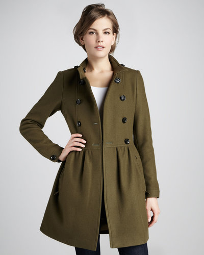Burberry Brit Double-Face Wool-Blend Coat