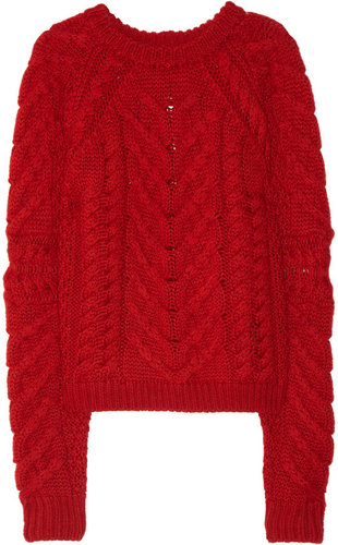 Isabel Marant Cable-knit wool sweater