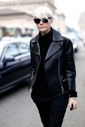 Kate Lanphear worked the all-black angle in the coolest way possible.
