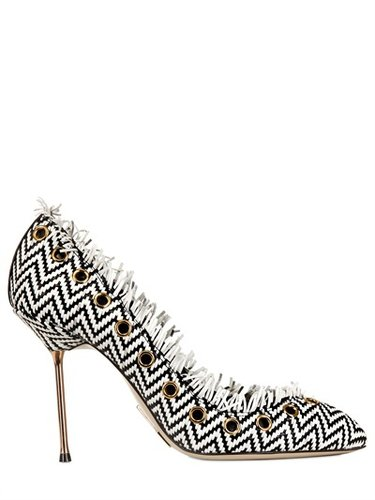 Daniele Michetti - 105mm Woven Leather Pumps