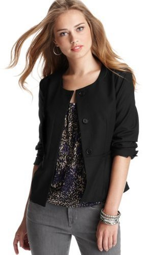 Black Collarless Blazer