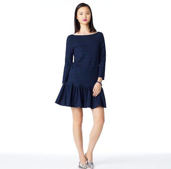 We love the girlie ruffles on this Kate Spade striped Burke dress ($238, originally $398).