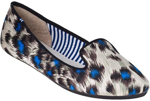 CHARLES PHILIP SHANGHAI Sheila Loafer Peacock Satin