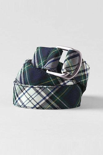 School Uniform Girls' Plaid D-ring Belt