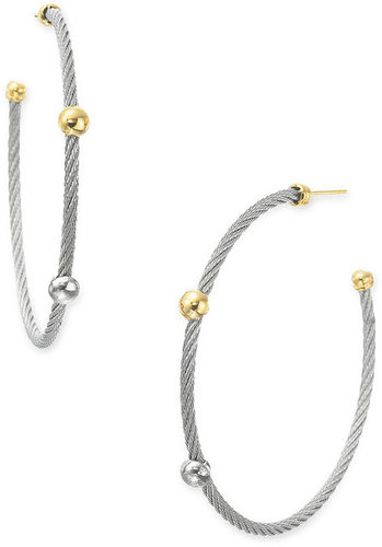 Charriol 'Nautical Cable' Hoop Earrings