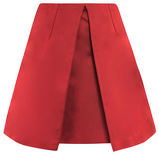 Carven Pleat front skirt