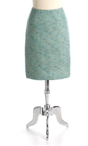 CALVIN KLEIN SUITS SEPARATES Lurex Tweed Pencil Skirt