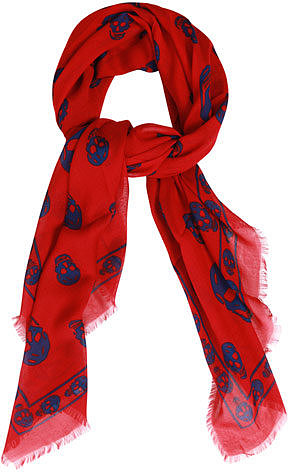 Alexander McQueen Classic cashmere-blend skull scarf