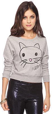 Forever 21 Meow Kitten Top