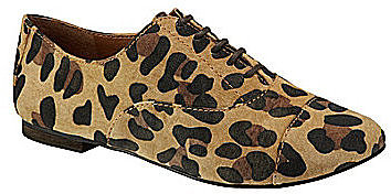 GB Gianni Bini Tom-Boy Leopard-Print Oxfords
