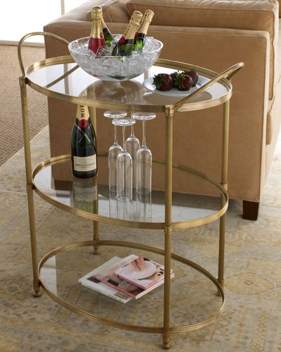 "Arteriors ""Emory"" Bar Cart"
