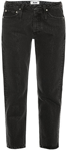 Acne Glitter low-rise tapered-leg jeans