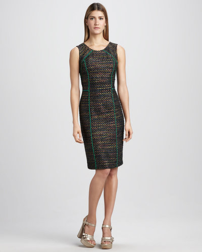 David Meister Piped Dress