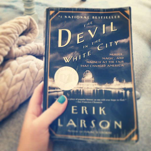 I just finished The Devil in the White City by Erik Larson for a book club. The historical nonfiction is far from boring —alternating between the story behind the architects who designed the Chicago World's Fair of 1893 and the first famous American serial killer who was murdering people at the same time.