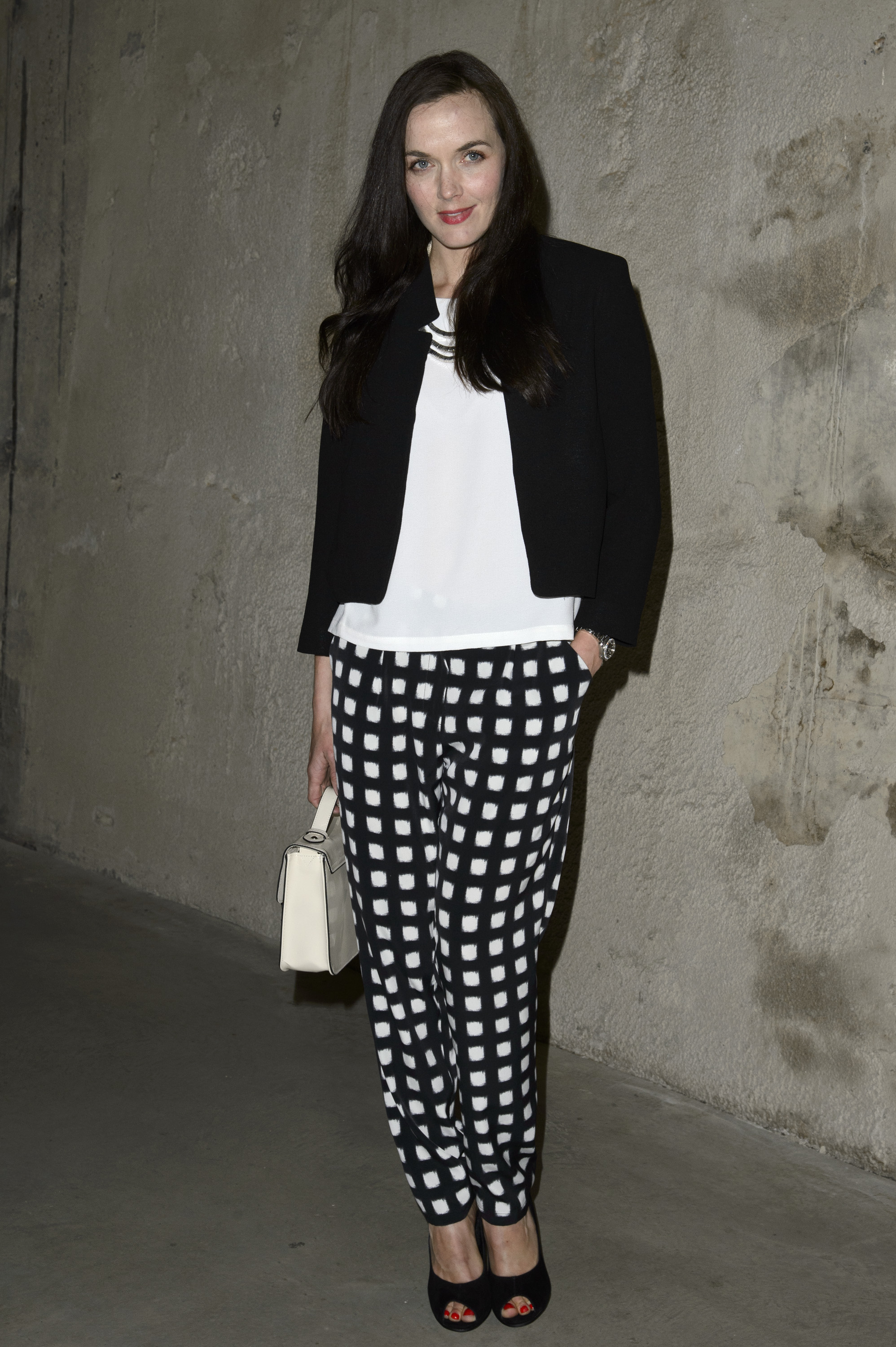 Victoria Pendleton at the Topshop Unique Fall 2013 show in London.
