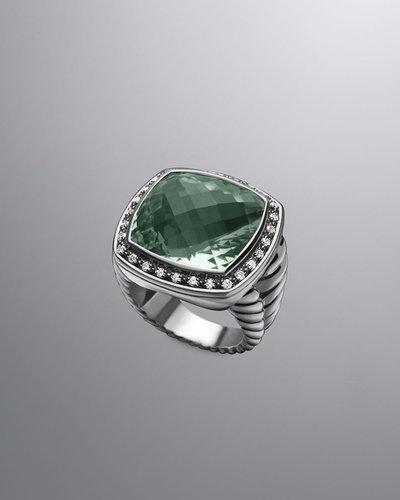 David Yurman Moonlight Ice Ring, Prasiolite, 17mm